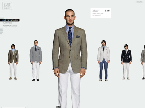 Suitsupply for Virtual suit builder
